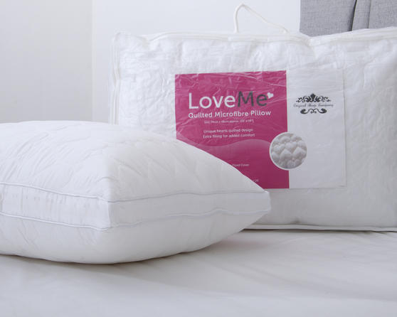 Love Me 5cm Gussetted Heart Stitched Pillow Thumbnail 1