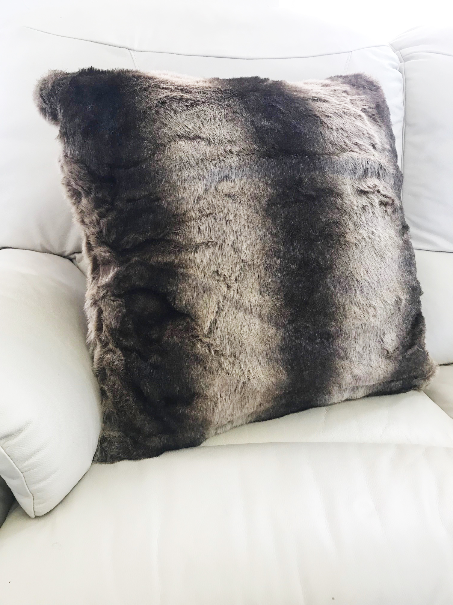 Faux Fur Wolf 65cm Cushion Cover