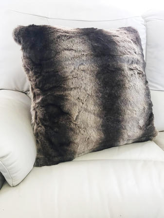 Faux Fur Wolf 65cm Cushion Cover  Thumbnail 1