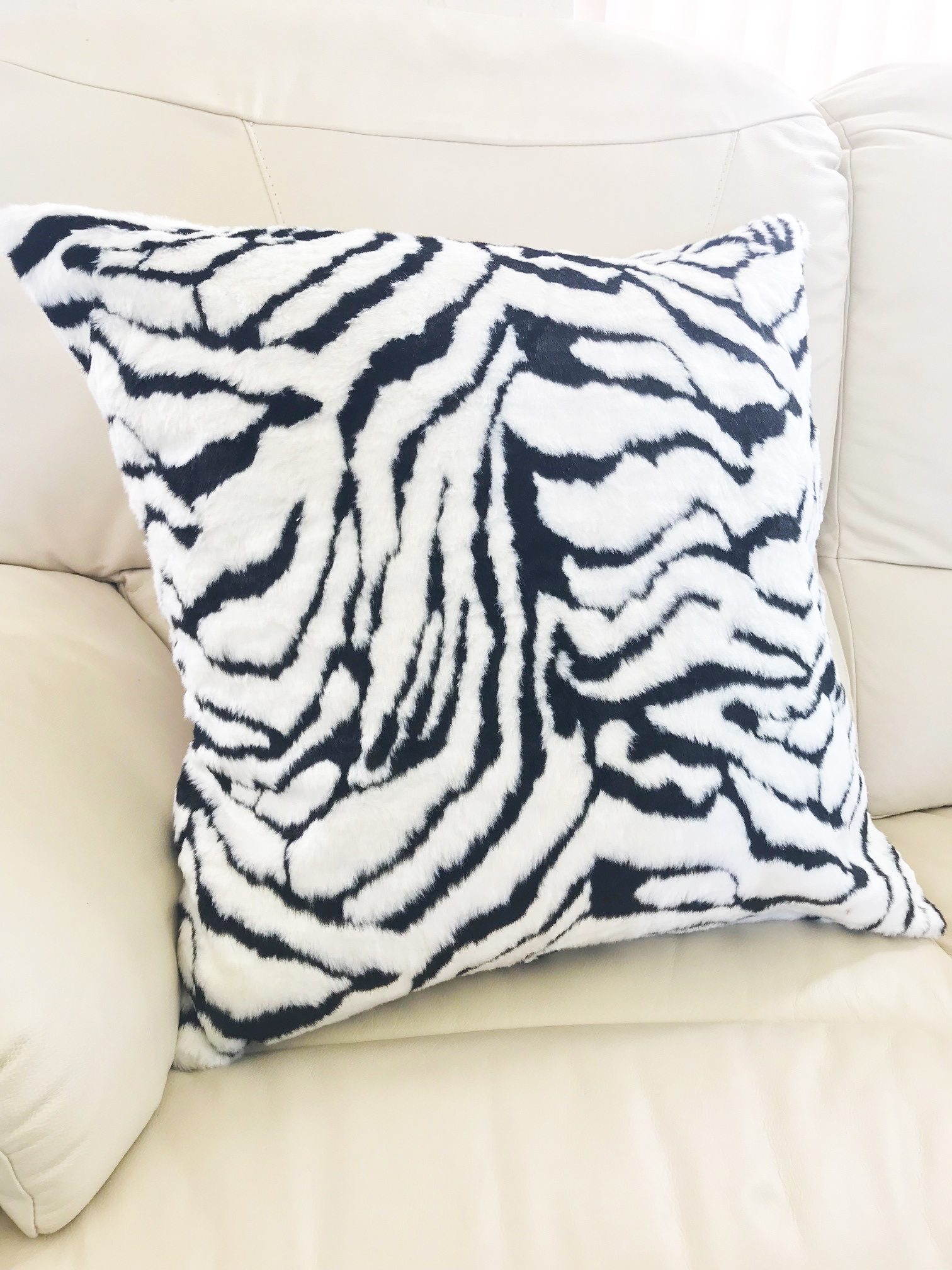 Faux Fur Tiger 65cm Cushion Cover