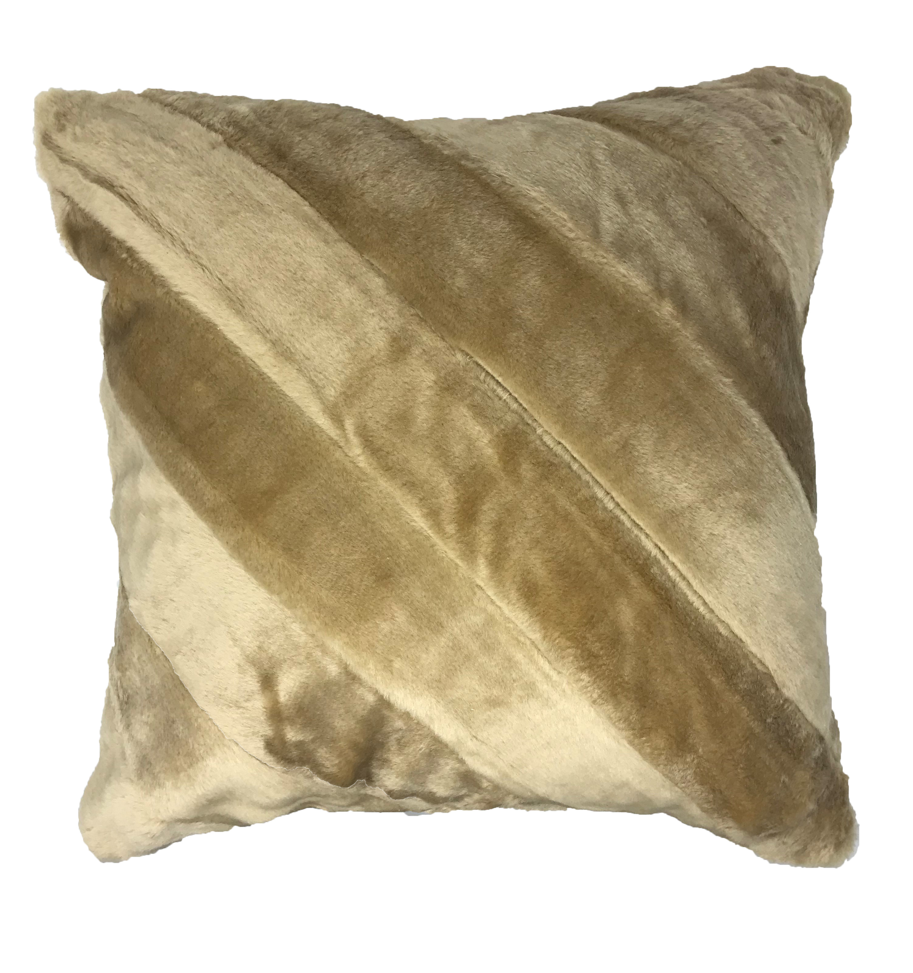 Faux Cream Fur 45cm Cushion Cover