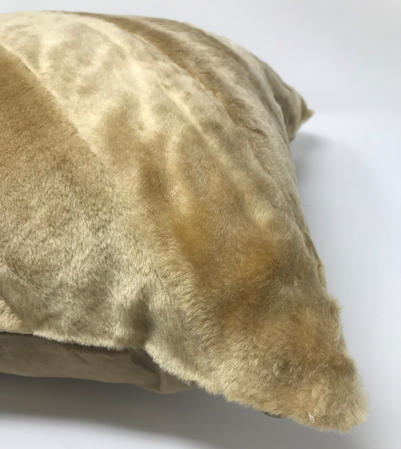 Faux Cream Fur 45cm Cushion Cover Thumbnail 2