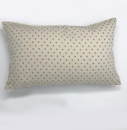 Vintage Reversable Polka Dot Cushion Cover Thumbnail 2