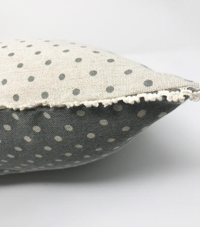 Vintage Reversable Polka Dot Cushion Cover Thumbnail 3