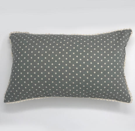 Vintage Reversable Polka Dot Cushion Cover Thumbnail 1