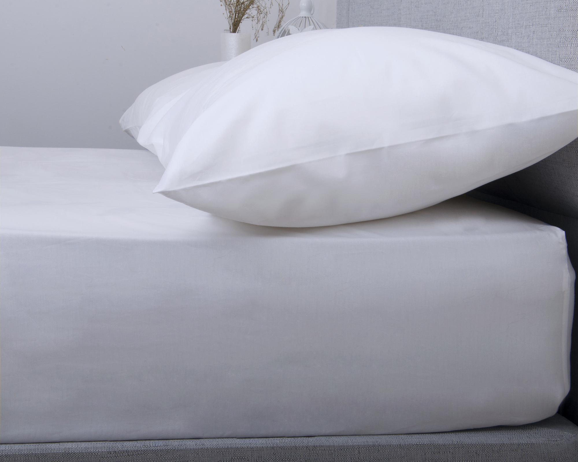200TC Luxurious Egyptian Cotton Fitted Sheet In White Or Cream
