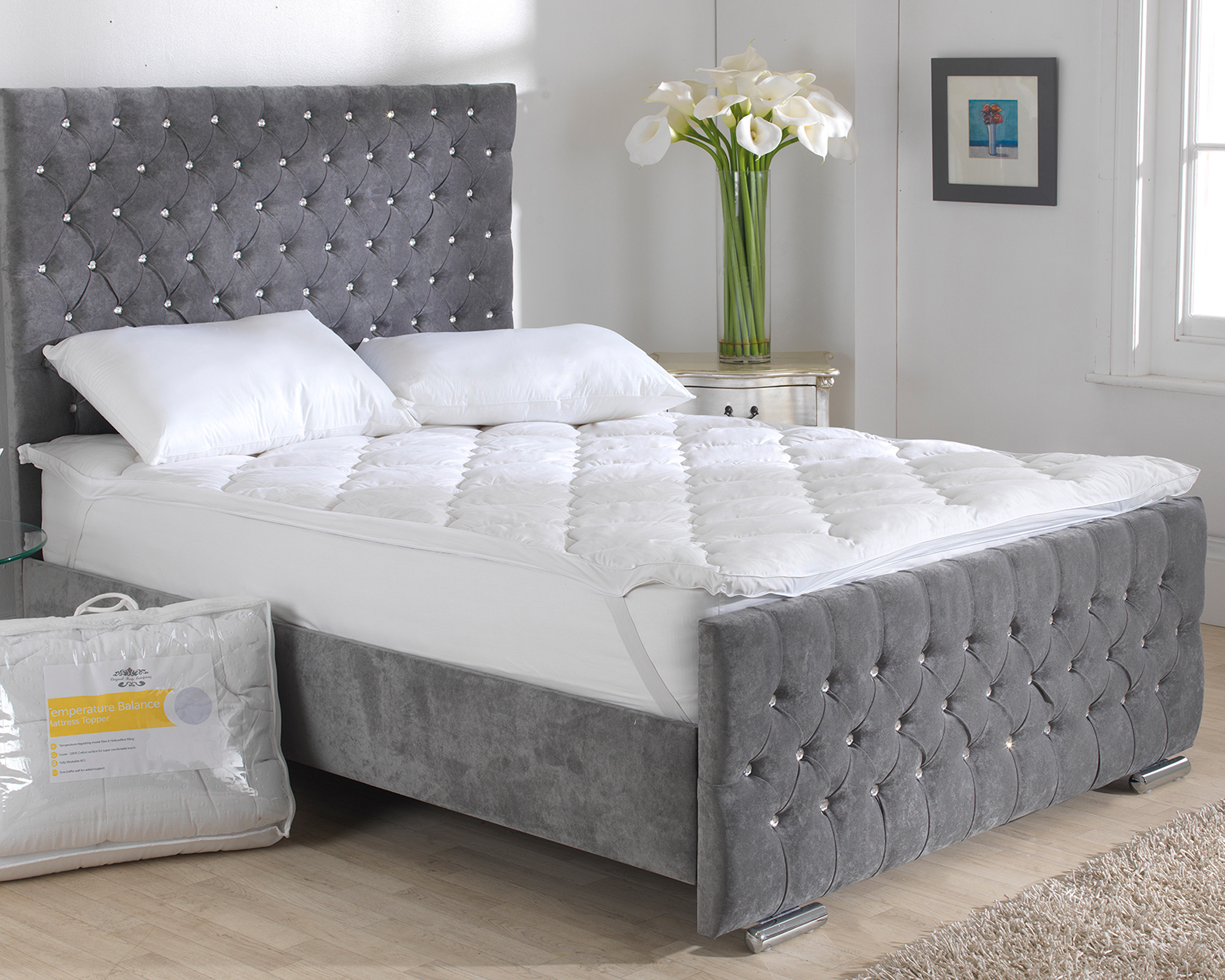 topper bed airmax mattress silentnight main square