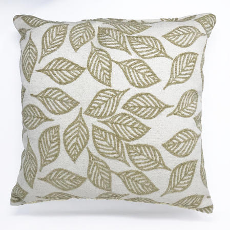 Natural Leaf Pattern Chenille Cushion Cover Only Thumbnail 1