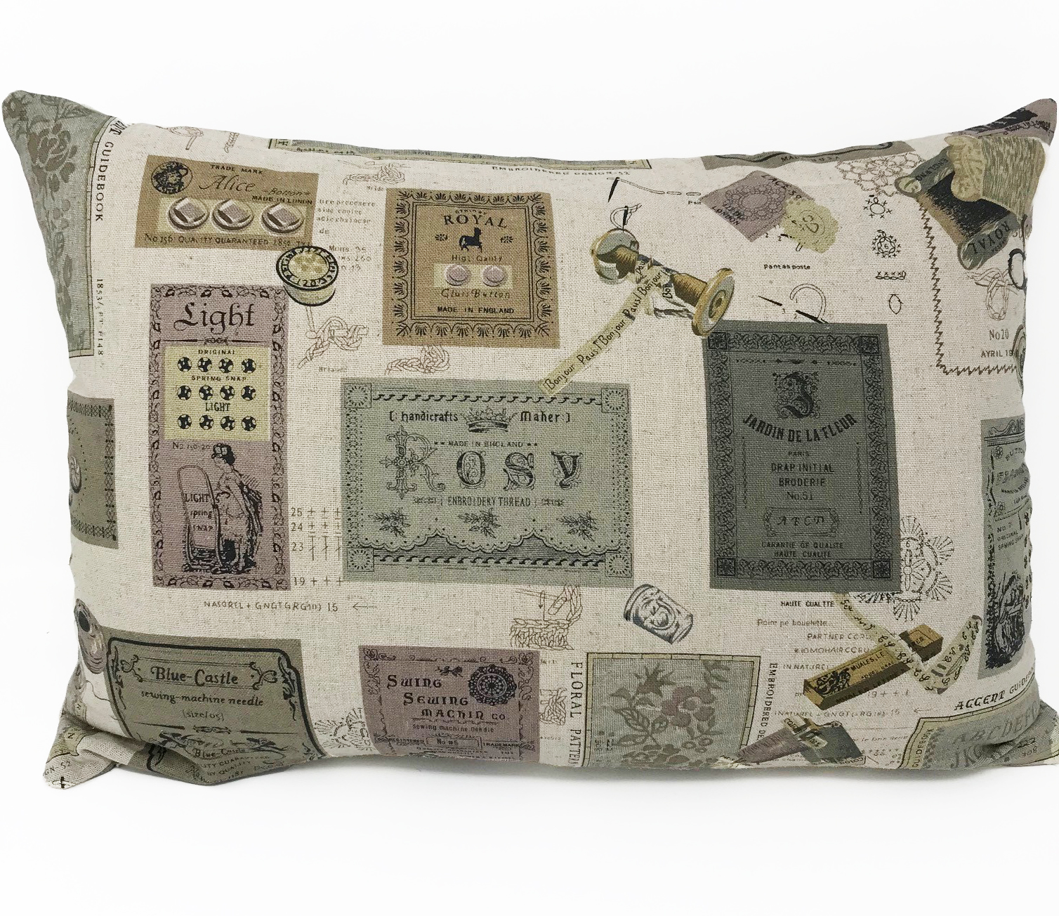 Vintage Style Label Cushion Cover Cover ONLY