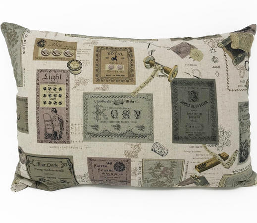 Vintage Style Label Cushion Cover Cover ONLY Thumbnail 1