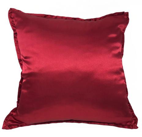 Reversible Red Velvet & Silk Blend Cushion Cover ONLY Thumbnail 2