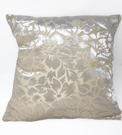 Velvet Floral Pattern Cushion Cover ONLY Thumbnail 1