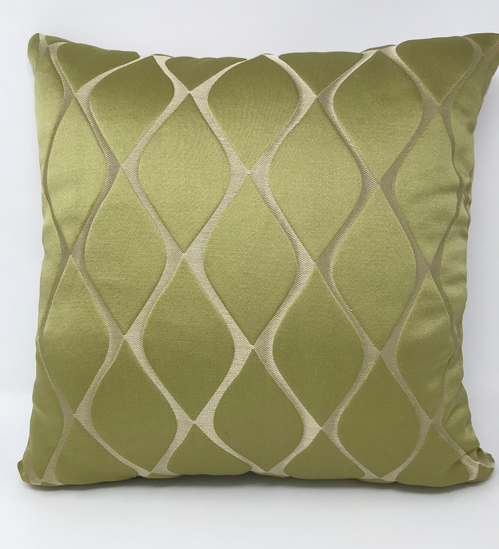 Green Patterned Cushion COVER ONLY