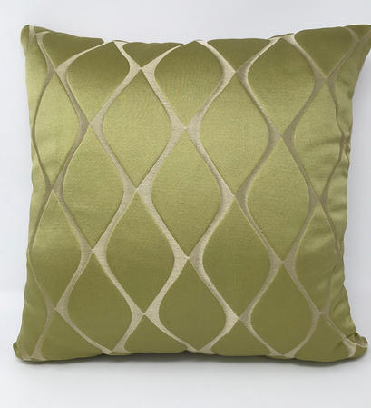 Green Patterned Cushion COVER ONLY Thumbnail 1