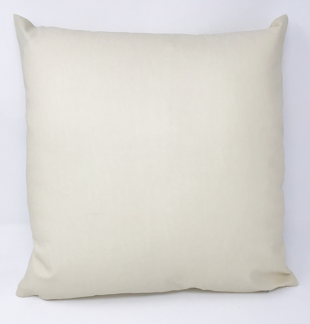 Faux Leather Cream Cushion COVER ONLY