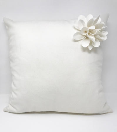 Cream Corsage Cushion COVER ONLY Thumbnail 1