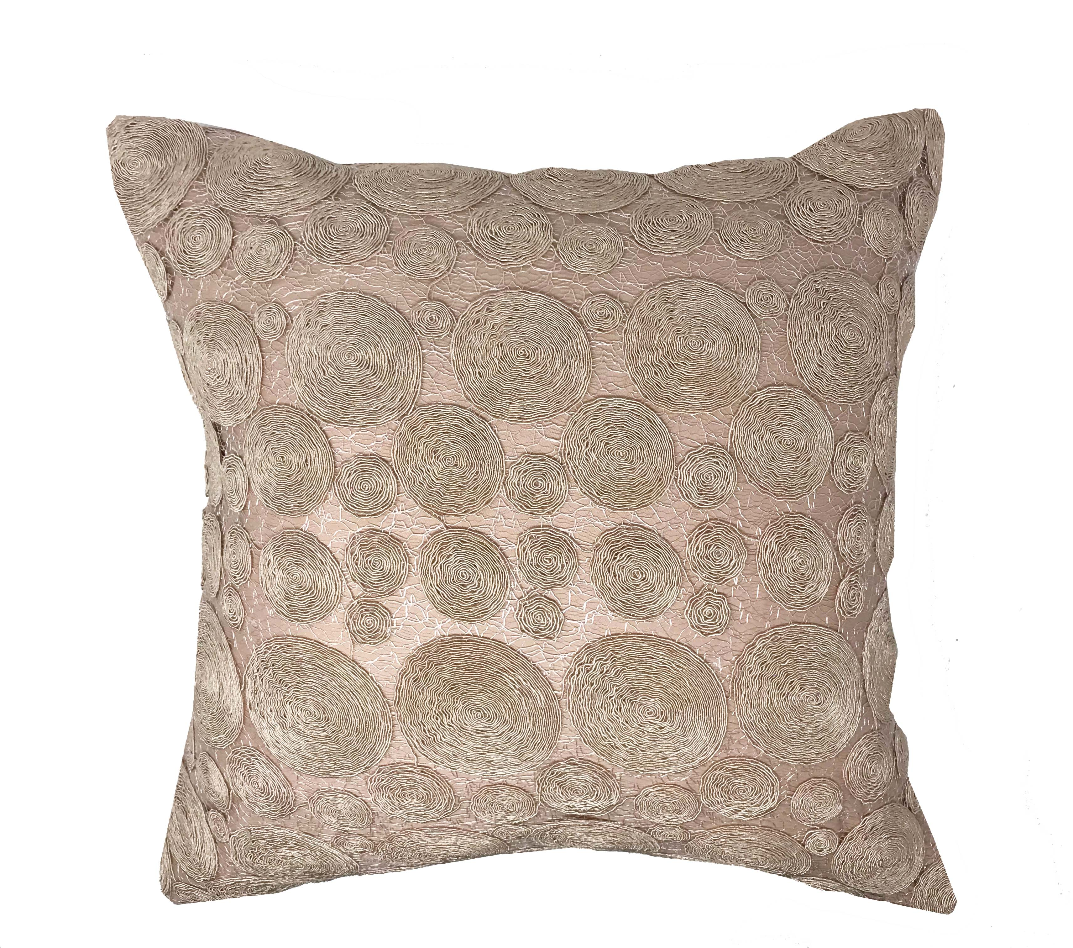 Bessie Lace Blush Rose 100% Cotton 43cm x43cm Cushion Cover Only - RRP£13.99