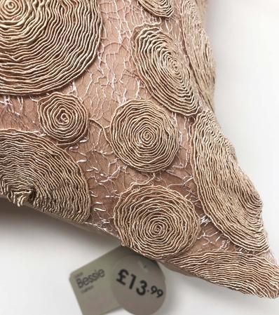 Bessie Lace Blush Rose 100% Cotton 43cm x43cm Cushion Cover Only - RRP£13.99 Thumbnail 2