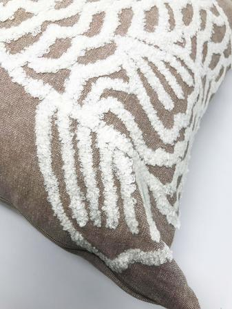 Natural White Fish Boucle 43cm x43cm 100% Cotton Cushion Cover Only Thumbnail 2
