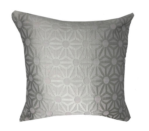 Ex John Lewis Eva Apple Silver Embroidered 45cm x45cm Cushion Cover Only Thumbnail 1