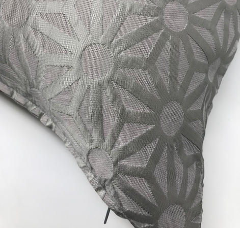 Ex John Lewis Eva Apple Silver Embroidered 45cm x45cm Cushion Cover Only Thumbnail 2