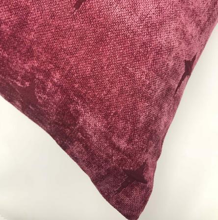 Dusky Purple Star Chenille 45cm x45cm Cushion Cover Only Thumbnail 2
