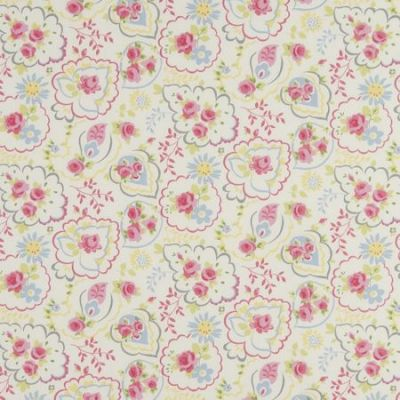Printed Paisley Rose 100% Cotton 45cm x45cm Piped Cushion Cover Only Thumbnail 2