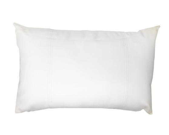 Faux Leather Look Perdu White Boudoir 55cm x35cm Cushion Cover Only