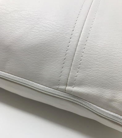 Faux Leather Look Perdu White Boudoir 55cm x35cm Cushion Cover Only Thumbnail 2