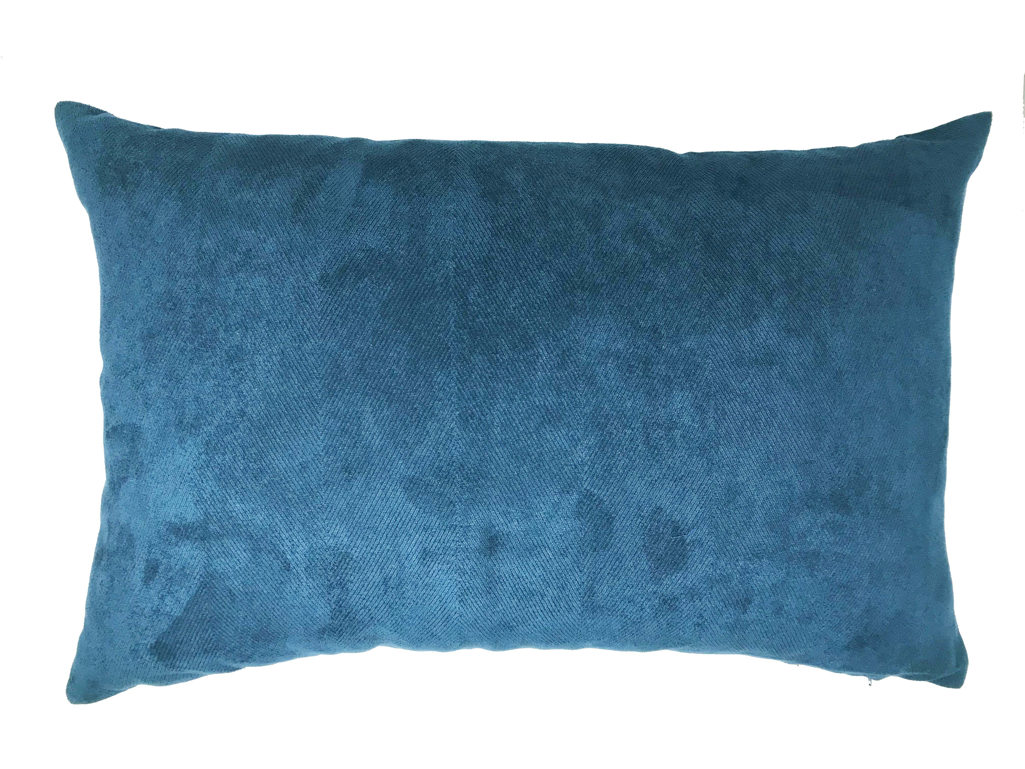 Herringbone Faux Suede Navy 60cm x40cm Cushion Cover Only RRP£9.99