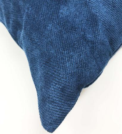 Herringbone Faux Suede Navy 60cm x40cm Cushion Cover Only RRP£9.99 Thumbnail 2