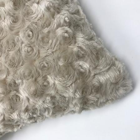 Luxury Swirl Faux Fur Grey 45cm x 45cm Hollowfibre Bounce Back Filled Cushion Thumbnail 2