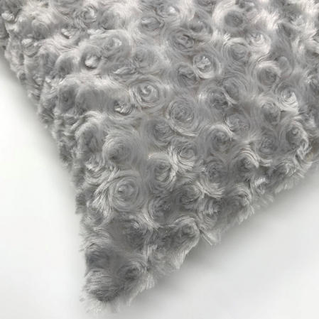 Silver Swirl Faux Fur Suede Reverse 43cm x 43cm Cushion Cover Only Thumbnail 2