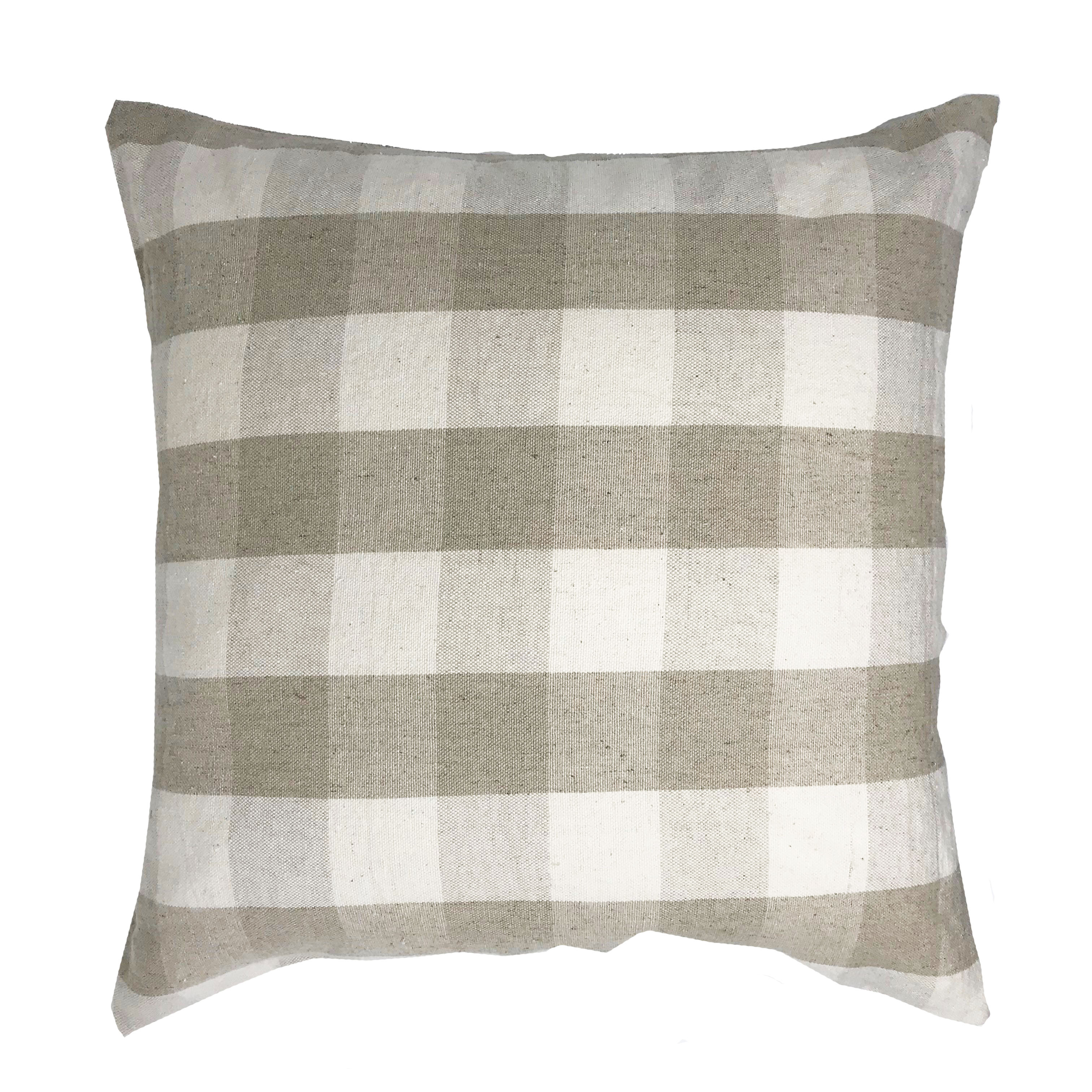 Natural Colour Tartan Check Chekers 45cm x 45cm Cushion Cover Only