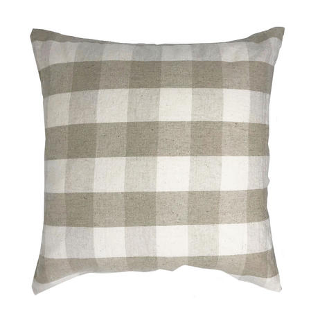 Natural Colour Tartan Check Chekers 45cm x 45cm Cushion Cover Only Thumbnail 1