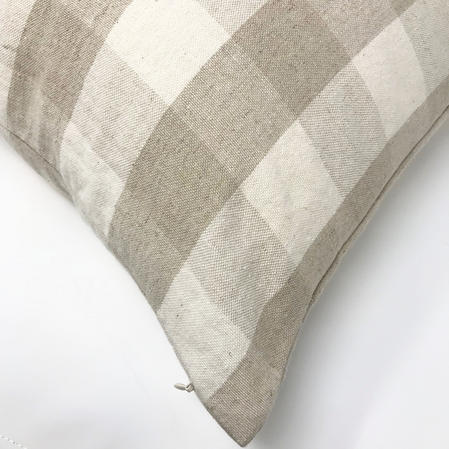 Natural Colour Tartan Check Chekers 45cm x 45cm Cushion Cover Only Thumbnail 2