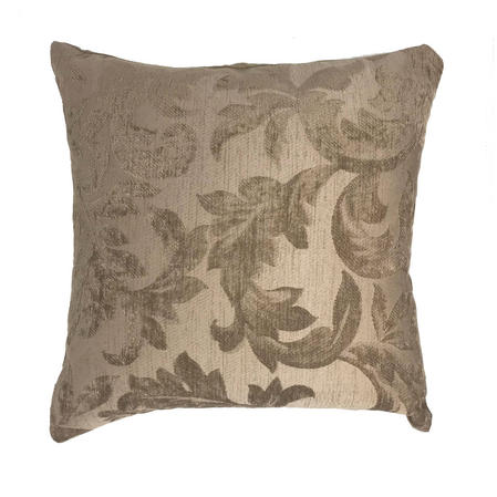 Mayfair Floral Embroidered Mink 43cm x 43cm Reverse Suede Cushion Cover Only Thumbnail 1