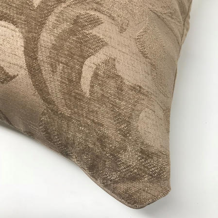 Mayfair Floral Embroidered Mink 43cm x 43cm Reverse Suede Cushion Cover Only Thumbnail 2