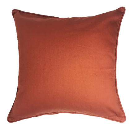 Drill Plain Terracotta 100% Cotton 43cm x 43cm Cushion Cover Only Thumbnail 1