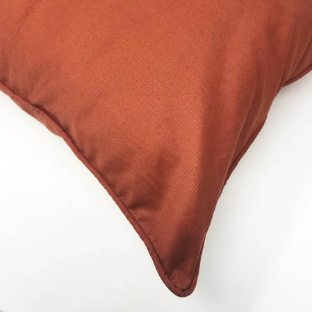 Drill Plain Terracotta 100% Cotton 43cm x 43cm Cushion Cover Only Thumbnail 2