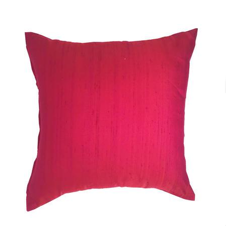 Silk Blend Tuni Plain Fuschia Pink 43cm x 43cm Cushion Cover Only