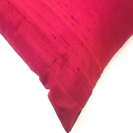 Silk Blend Tuni Plain Fuschia Pink 43cm x 43cm Cushion Cover Only Thumbnail 2