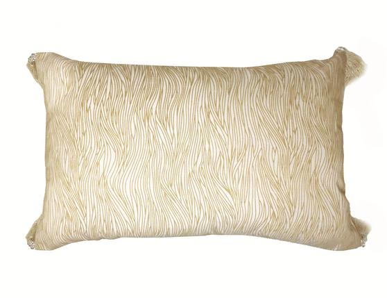 Palermo Natural 34cm x 53cm Boudoir Tassel Cushion Cover Only Thumbnail 1