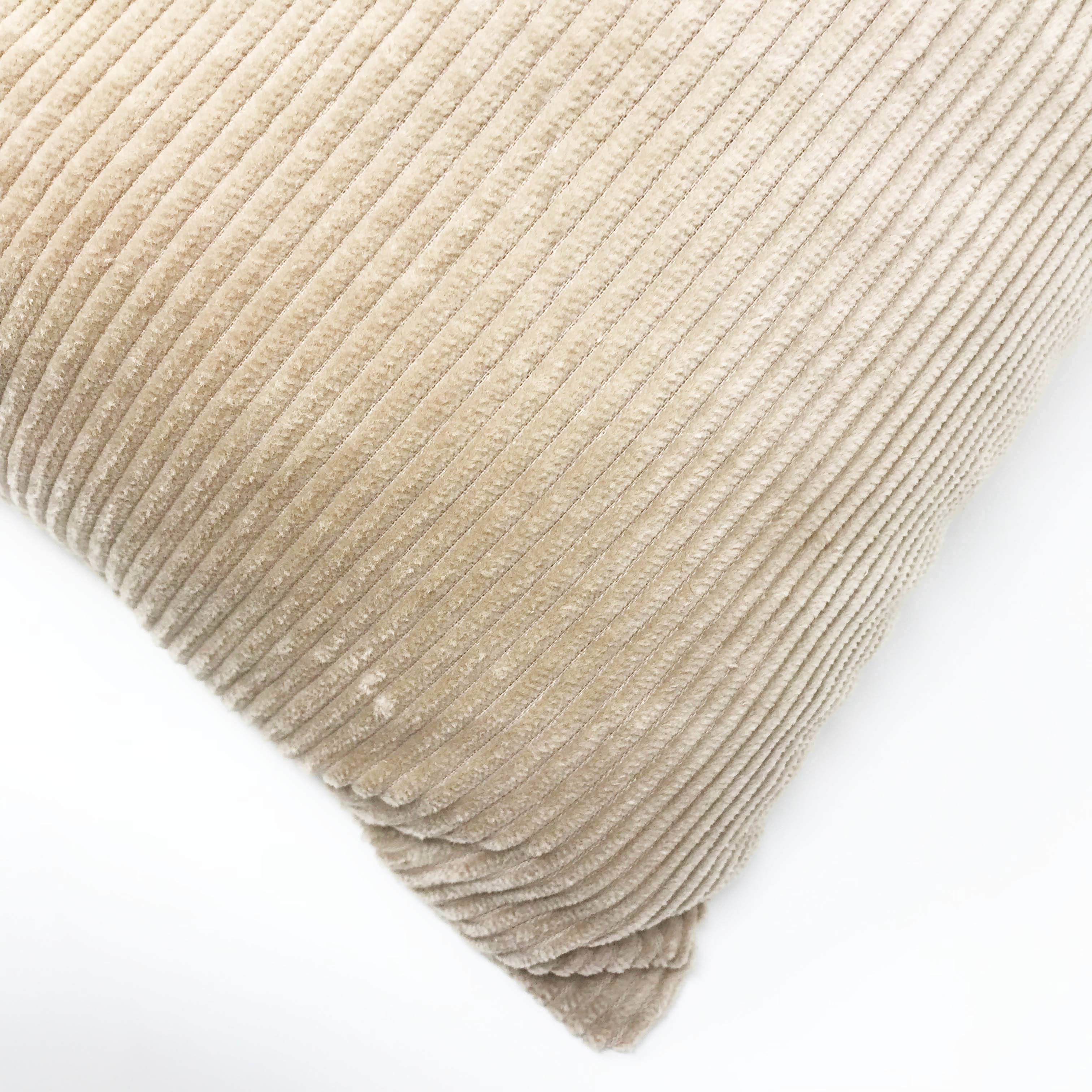Natural Cords 100% Cotton Beige 55cm x 55cm Cushion with Bounce Back Filling
