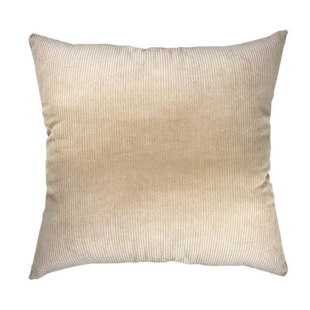 Natural Cords 100% Cotton Beige 55cm x 55cm Cushion with Bounce Back Filling Thumbnail 1