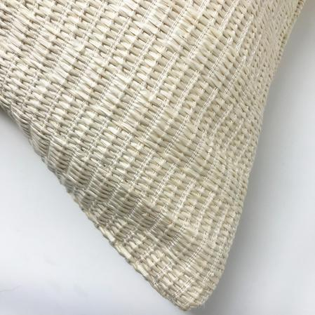 Jamaica Natural Straw Like Woven 60cm x 60cm Cushion Cover Only Thumbnail 2