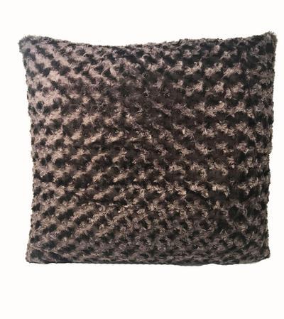 Fur Chocolate 60cm x 60cm Cushion Thumbnail 1