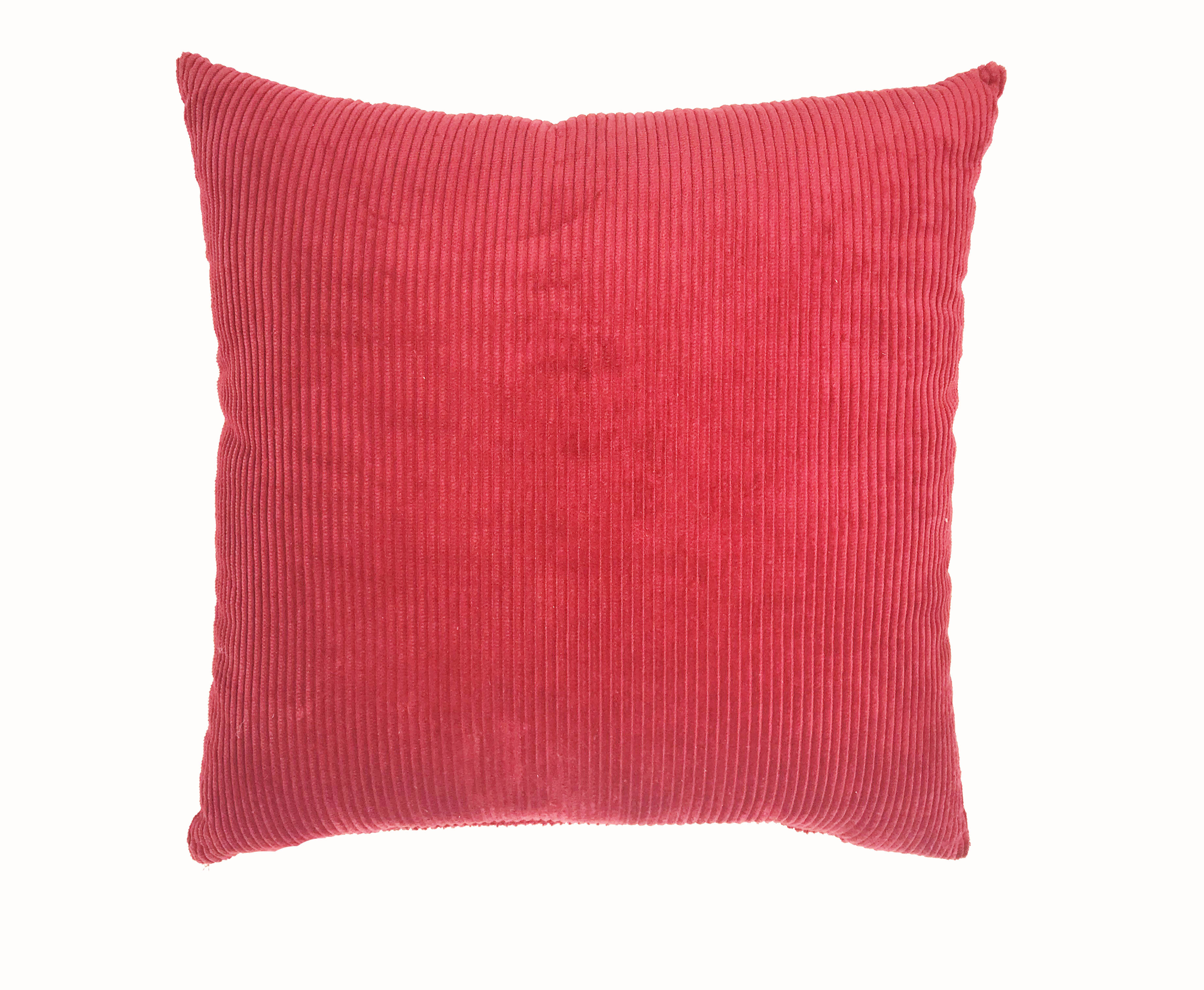 Burgundy Cord 43cm x 43cm Cushion Cover Only