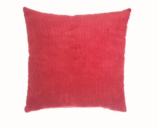 Burgundy Cord 43cm x 43cm Cushion Cover Only Thumbnail 1