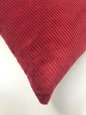 Burgundy Cord 43cm x 43cm Cushion Cover Only Thumbnail 2